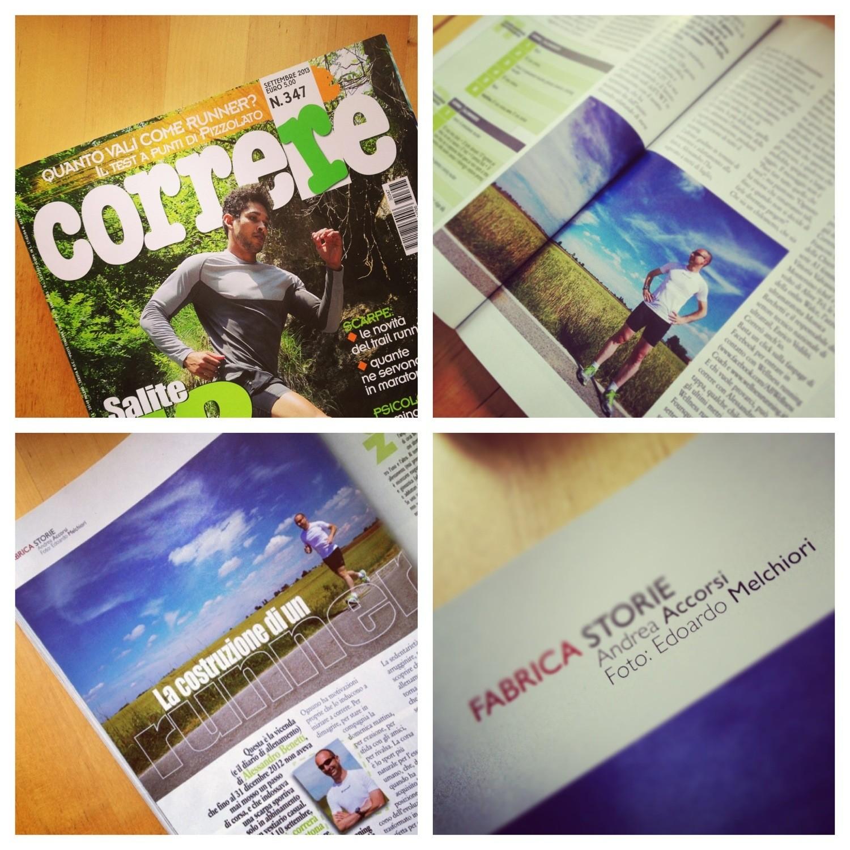 Le mie foto pubblicate sul numero di settembre di Correre
