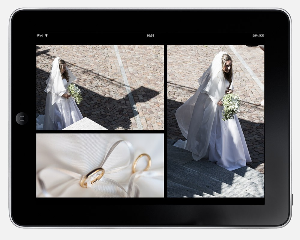 fotografo matrimoni torino book nozze per iPad