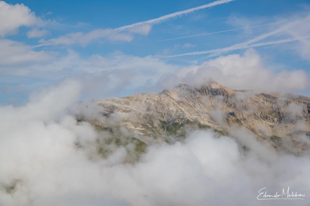 Le montagne di Livigno fra le nuvole
